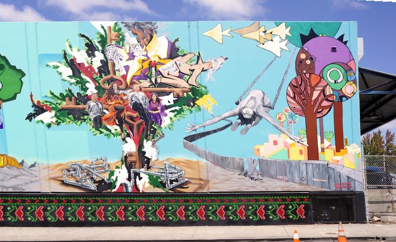 Oakland Palestine Solidarity Mural 2014
