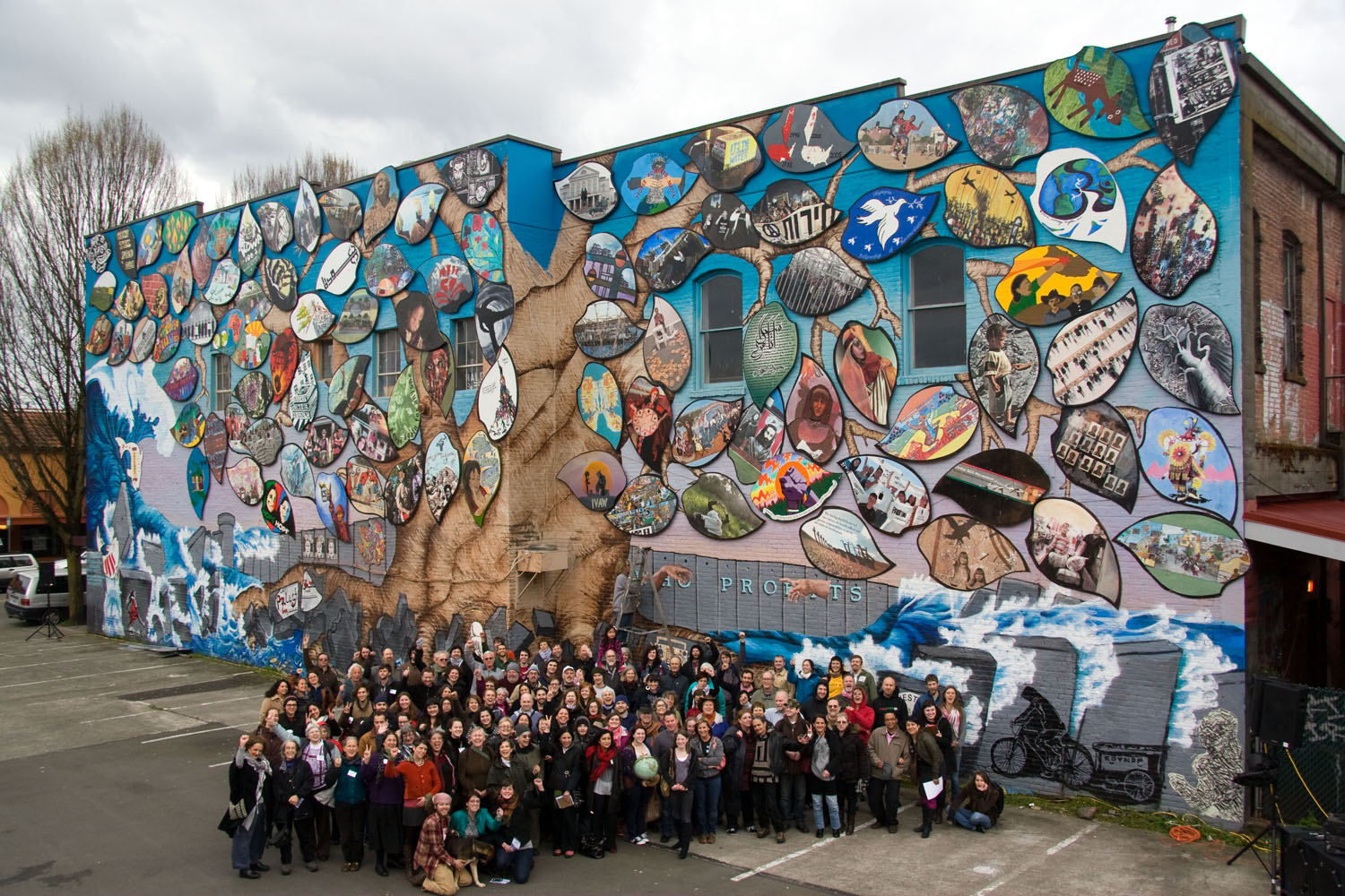 A Tale of Two Cities: Olympia-Rafah Solidarity Mural Project, Olympia WA